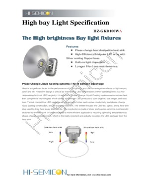 100w LED high bay lights with 5000 - 6000K color temperature for gas station