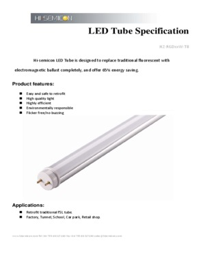 LED tube light(Hz-RGD**W-T8)