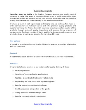 Superior Sourcing India Pvt. Ltd.