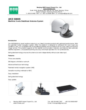 AKD 5000S Maritime 3-axis Stabilized Antenna System