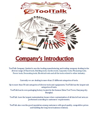 TOOLTALK COMPANY LIMITED