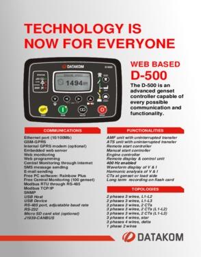 D 500 Advanced Genset Controller