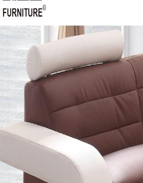 Living Room L Shape Genuine Leather Sofa Bed