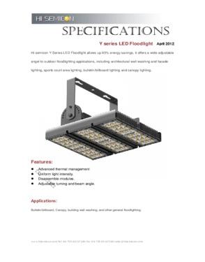 120W High Lumen LED Flood Lighting with IP65 Waterproof and Bean Angle 15° / 25° / 45°