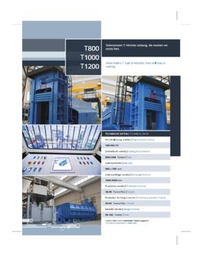 Shear  Baler IDROMEC  T800 / T100 / T 1200