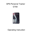 cheap personal waterproof GPS tracker GT60