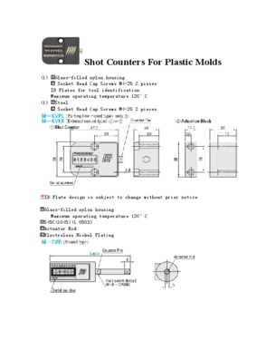 Progressive, DME, DANLY mold/shot counter/counterview