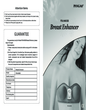 Pangao breast enhancer