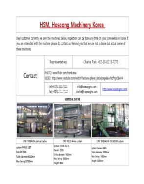Hoseong Machinery Korea