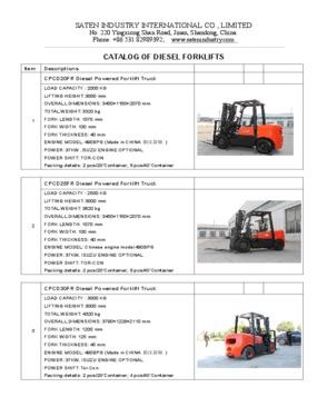 3T Diesel Powered Forklift Truck