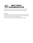 Bettery aggregates