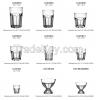Стеклянные кружки и чашки и поддонники