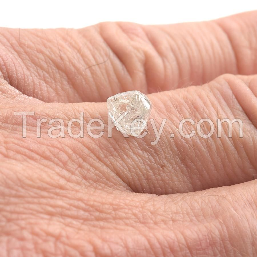 Rough diamond champagne and White raw uncut diamond
