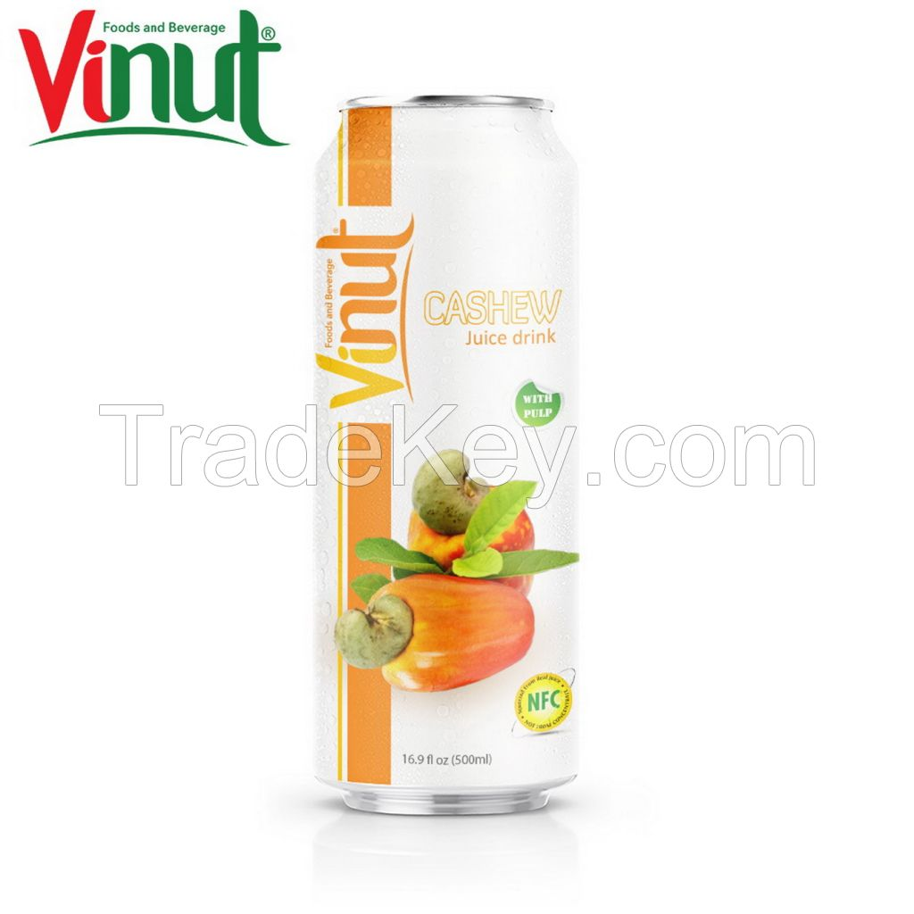 VINUT 500ml Cashew Juice with pulp Wholesalers Sale fresh customized label NFC Healthy Drinks