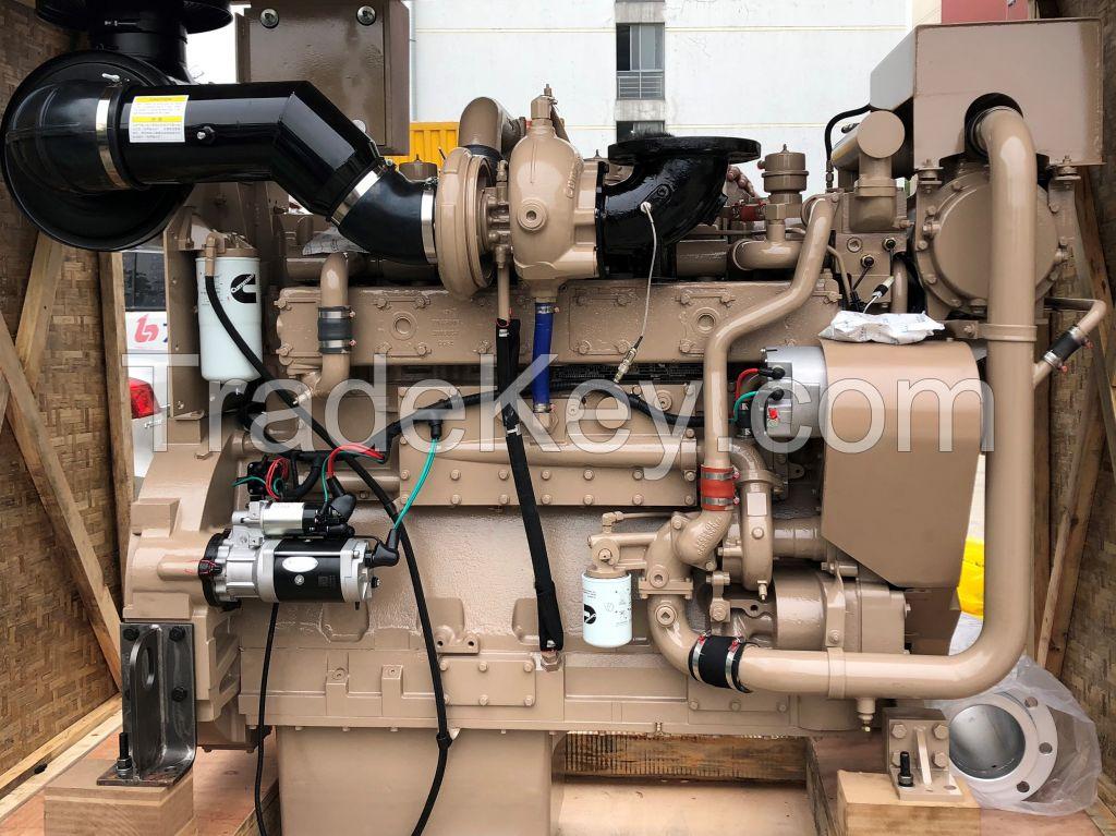 Water cooling 6 cylinder KTA19-M4 boat ship marine diesel engine