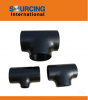 Butt weld fittings carbon steel pipe tee equal or reducing