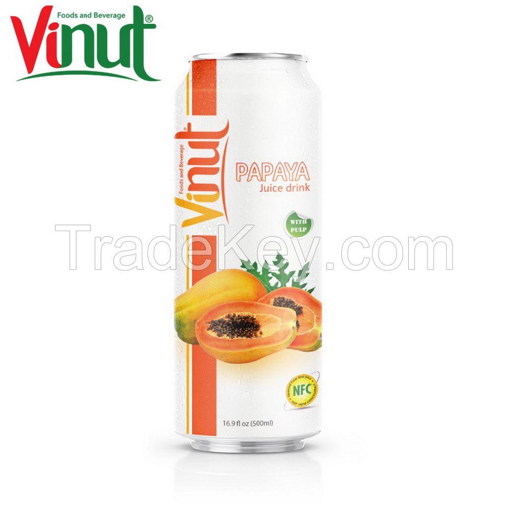 VINUT 500ml Papaya Juice with pulp Distribution OEM Beverage Free Sample Sugar free tropical