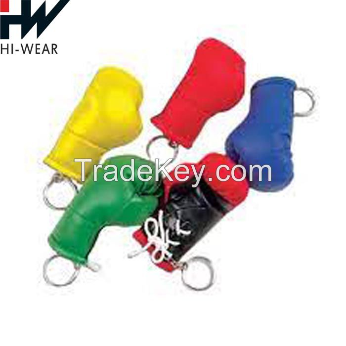 New Arrival Boxing-Glove Pendant Key Ring Punk Style Leather Key Chain For Wholesale