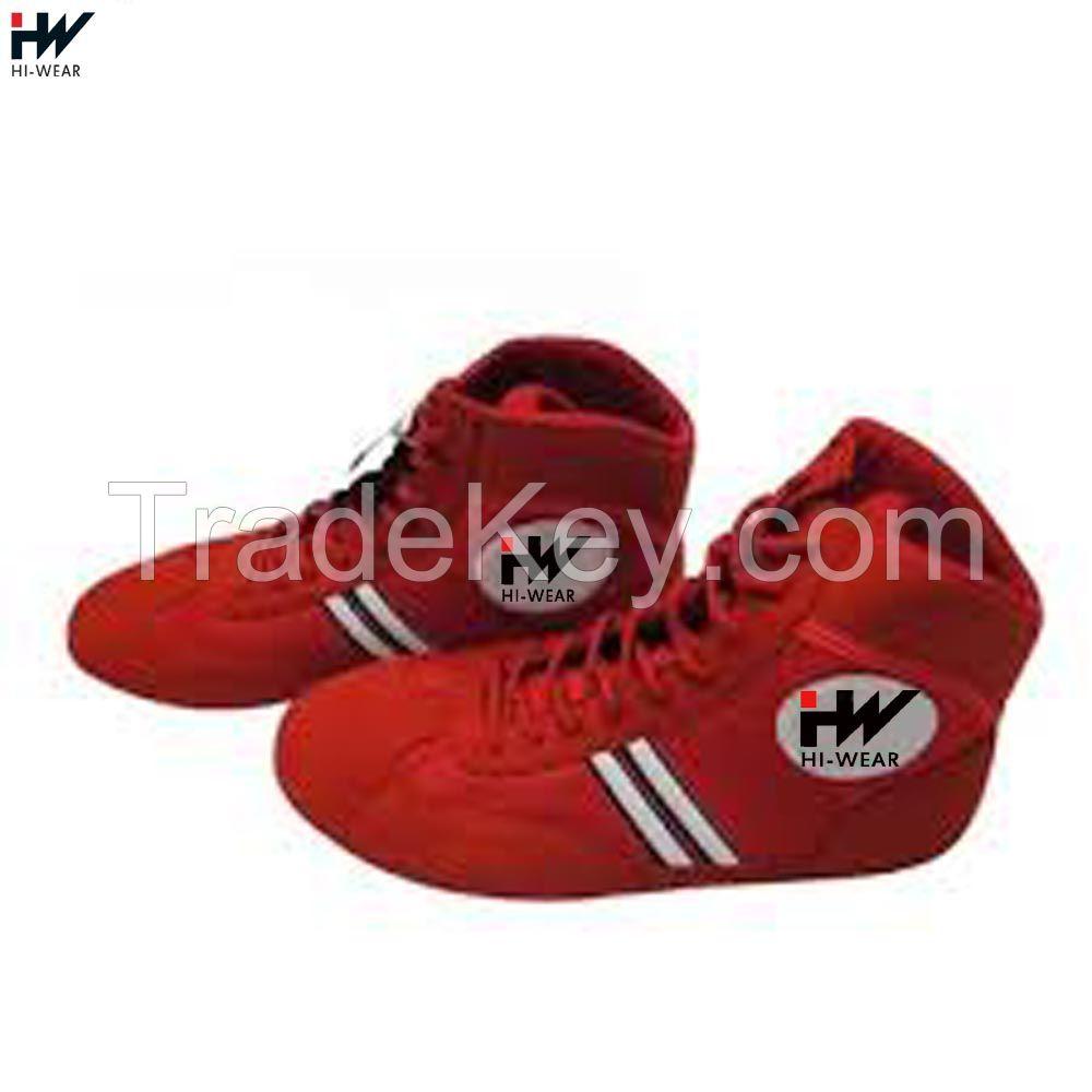 Custom made professional men training sambo wrestling shoes