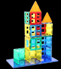 80 pcs 2017 3d puzzle diy toy building block magnetic tiles toys