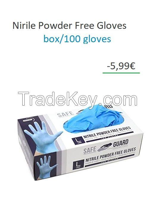 RS PRO Blue Nitrile Gloves size 8.5 - L Powder-Free x 100