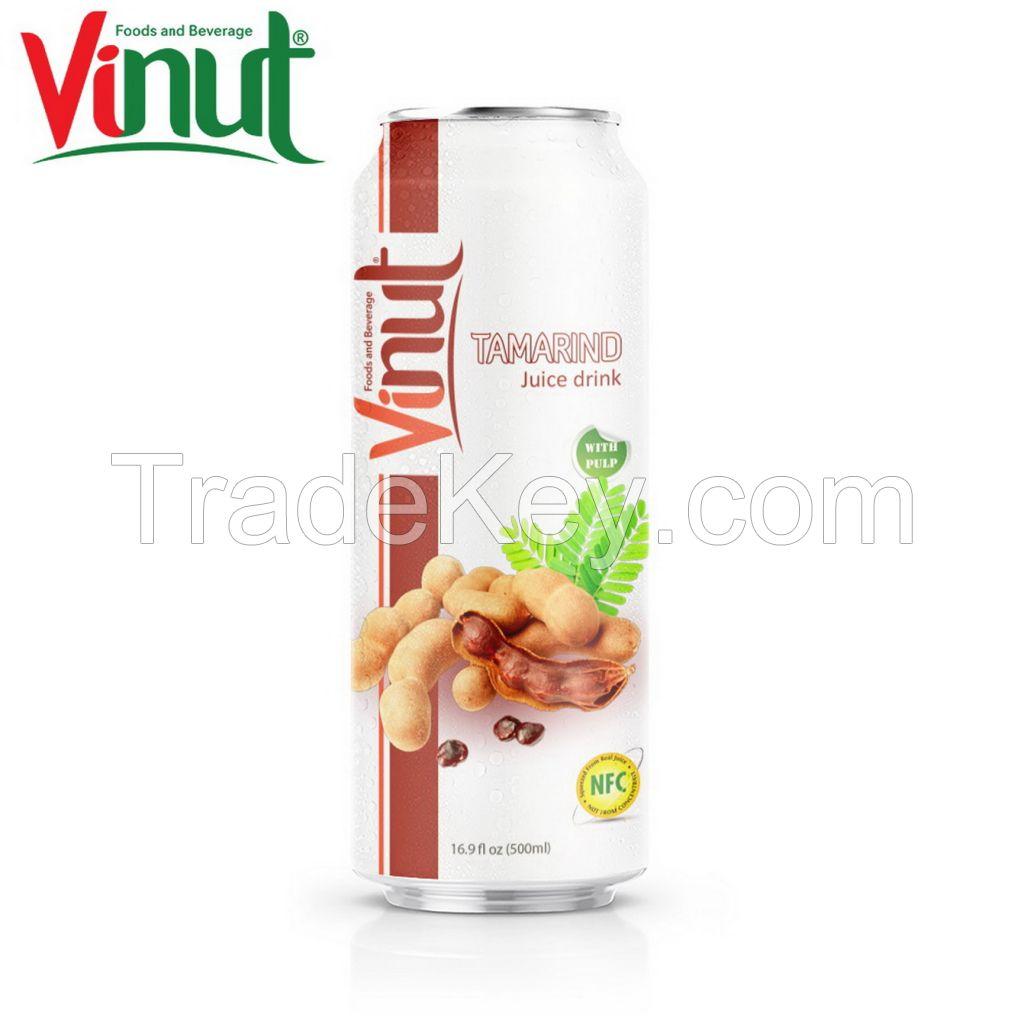VINUT 500ml Tamarind Juice with pulp Sellers Free Design Label NFC Tropical Drink