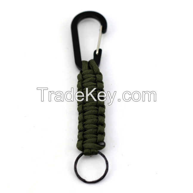 Outdoor survival fashion simple climbing key chain, Climbing tools custom umbrella rope multi-function key chain