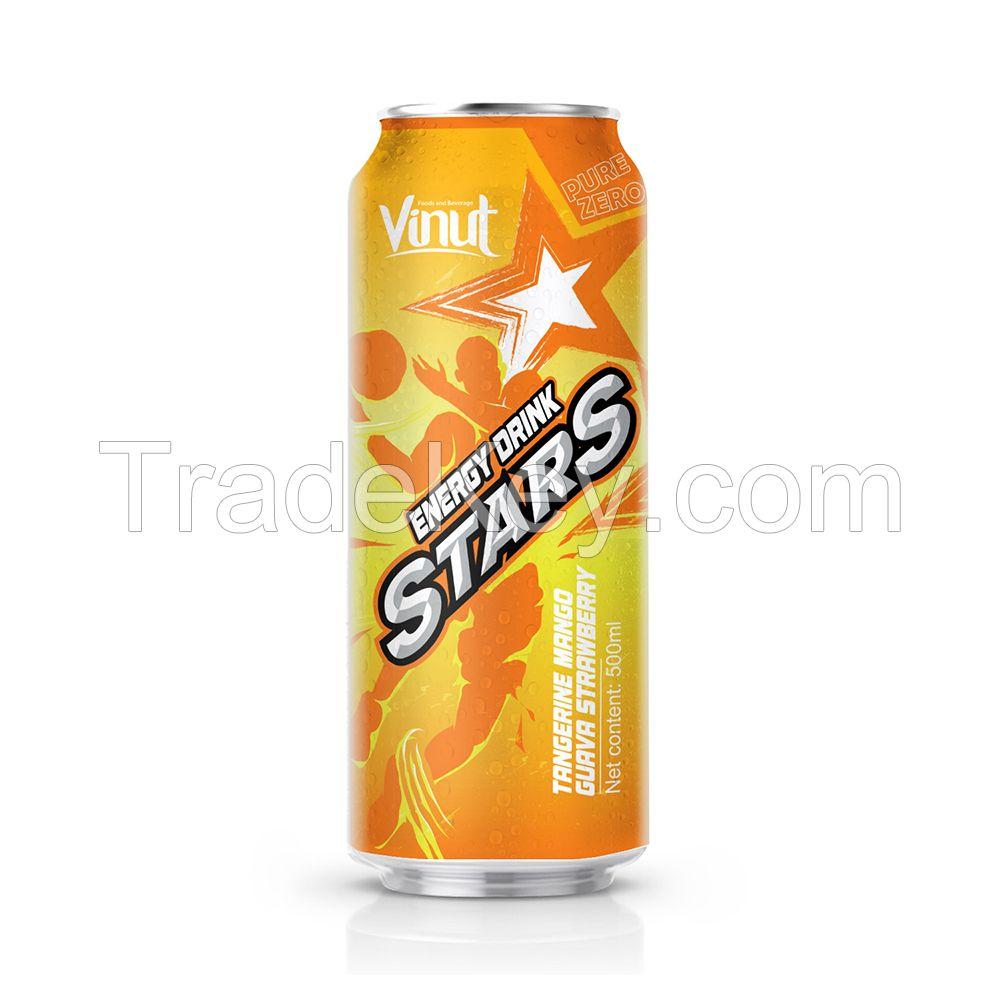 500ml VINUT Stars Energy drink with Mango guava strawberry