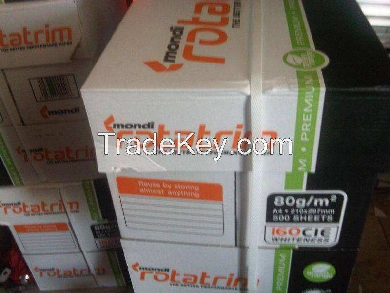 "Premium Quality Mondi Rotatrim A4 Copy Paper ""80gsm/75 gsm"