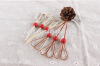 Heart Shaped Party Supplies Bamboo Desert Picks Fruit Skewers With Wooden Bead