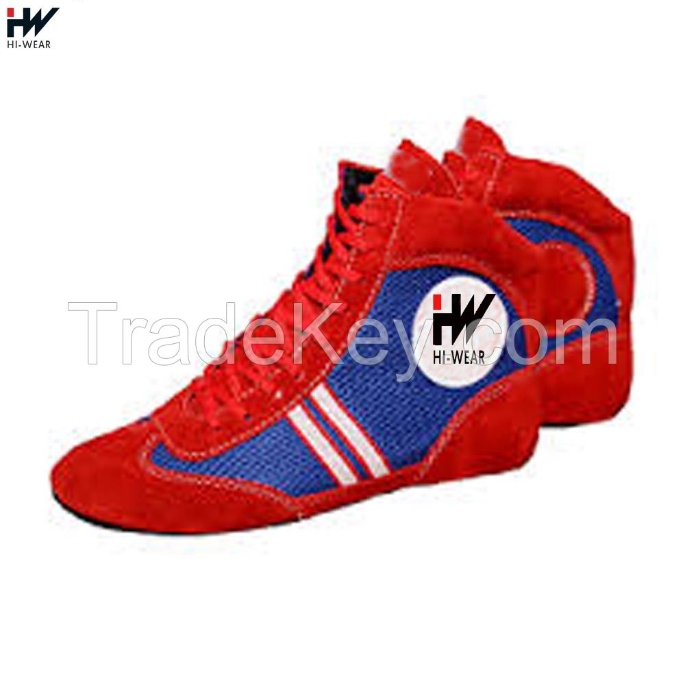 High Quality Sambo Wrestling Suede Leather Shoes