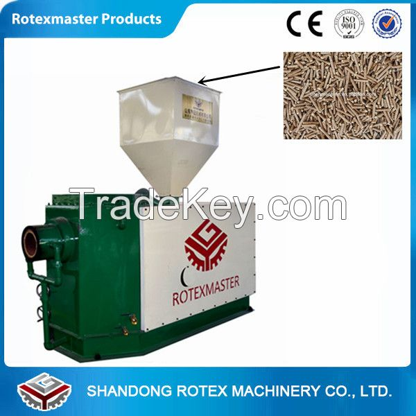 Biomass burner wood pellet burner provide heat for boiler