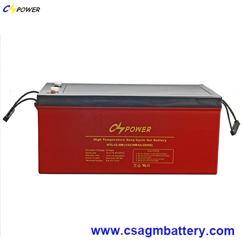12V250ah Deep Cycle Gel Battery High Temperature Use for Solar