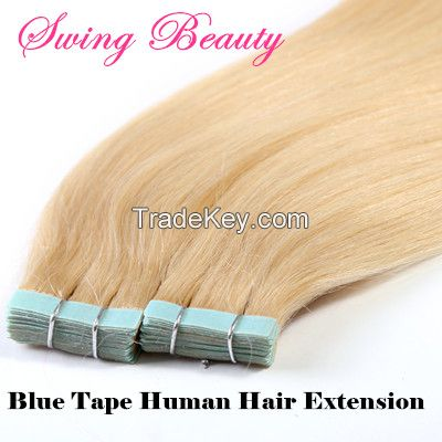 PU Skin Tape On Human Hair Weft Extension