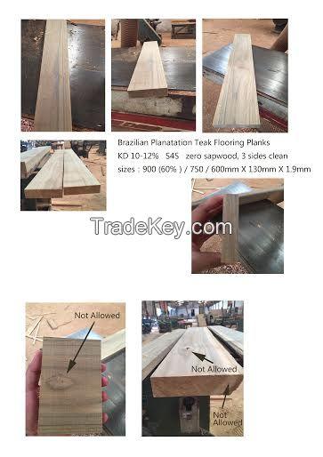 KD Teak flooring blanks