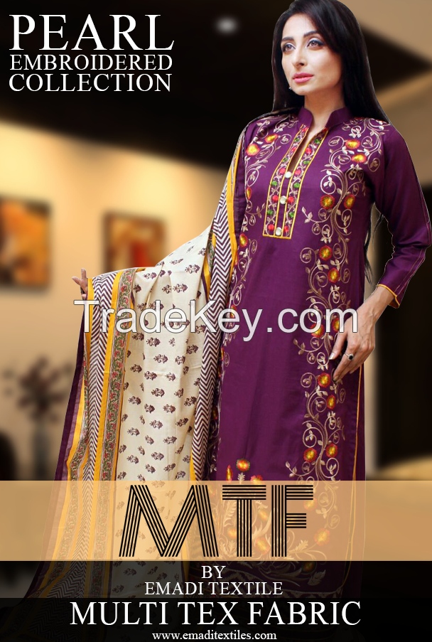 Embroidered Ladies Suits for sale