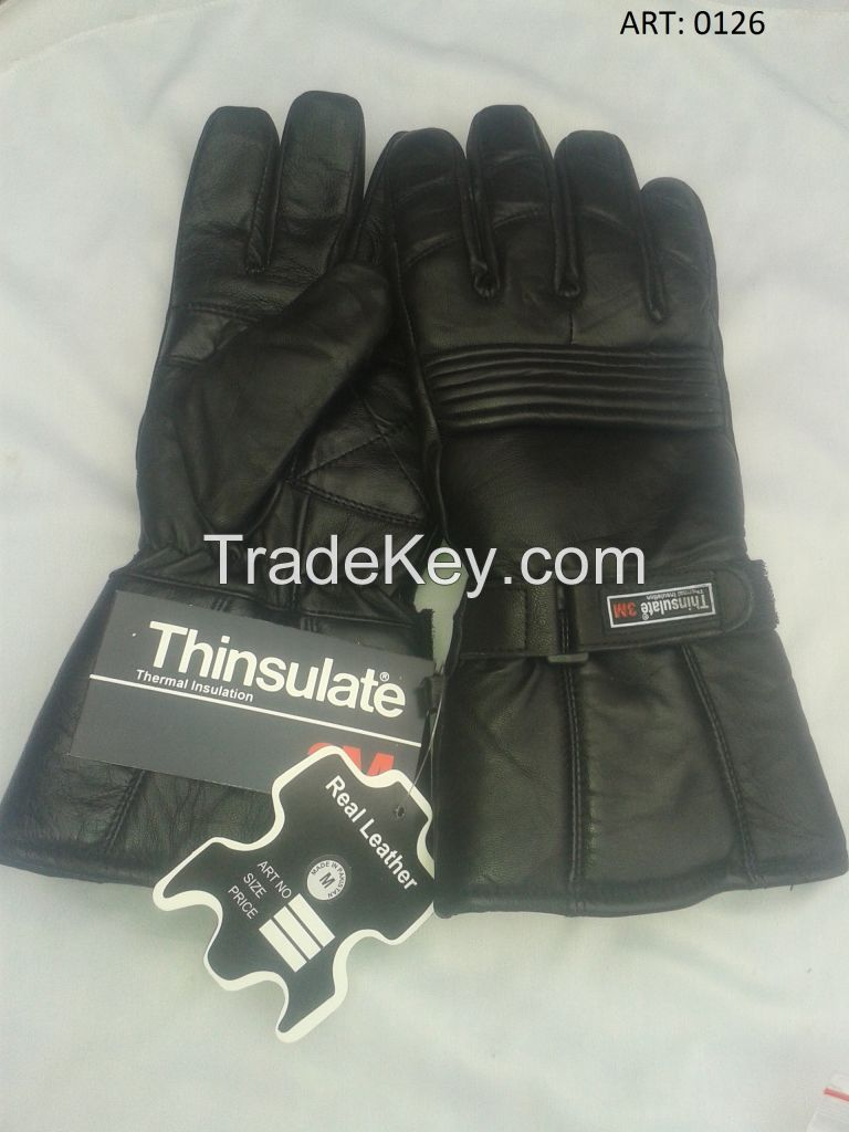 Leather Motorbike Gloves in stock