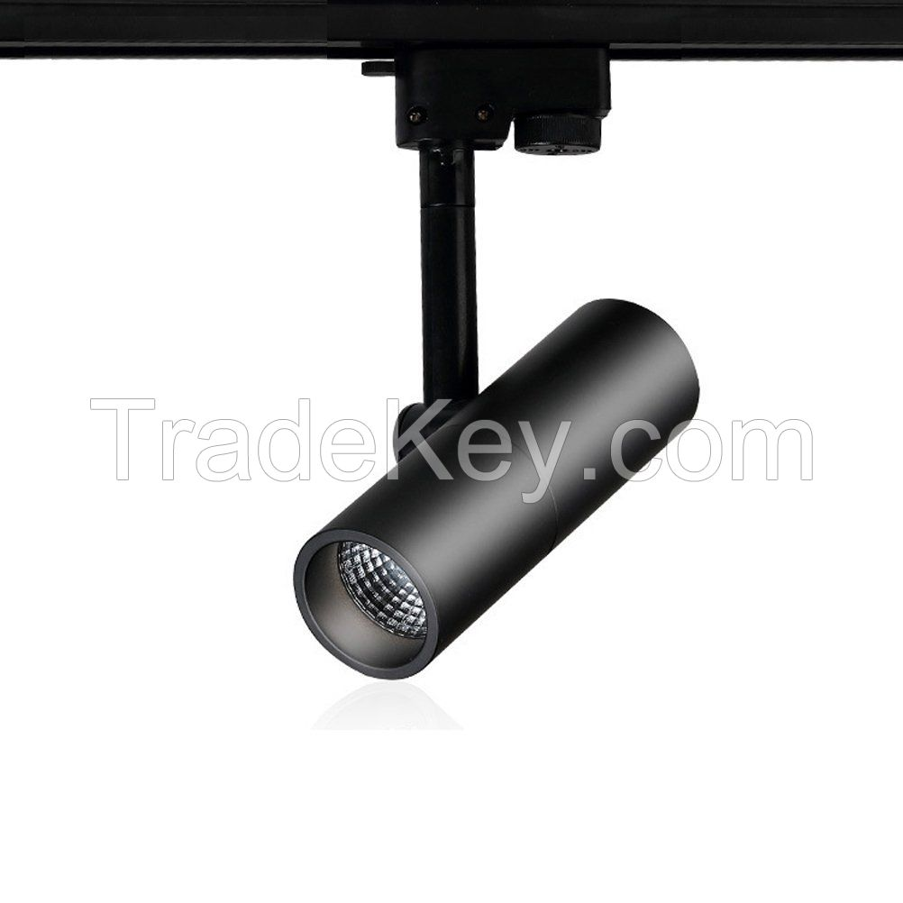 LED Track Rail Spotlight Lamp Gallery Store Display Window Exhibition Ceiling COB Chip Bulb Lamps Cool White