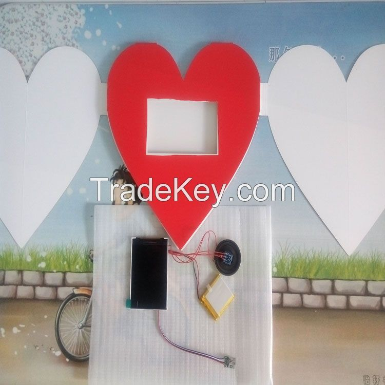 2.8 inch lcd vedio greeting cards/advertising promotional brochure/wedding invitation card