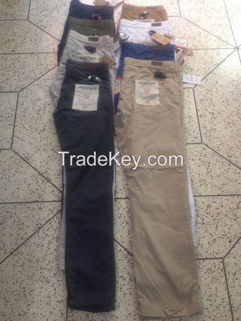 Men's light twill long pant (slim fit)