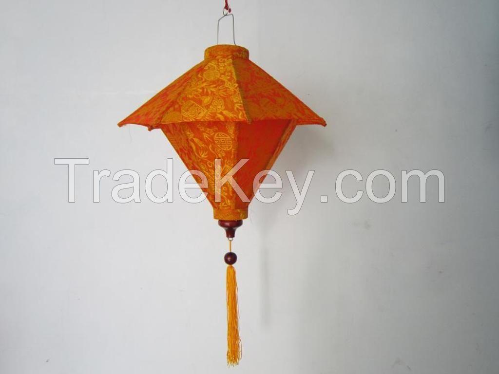 Bamboo silk lantern, silk lantern/ lamp, hanging silk lantern, wedding lantern, holiday lantern