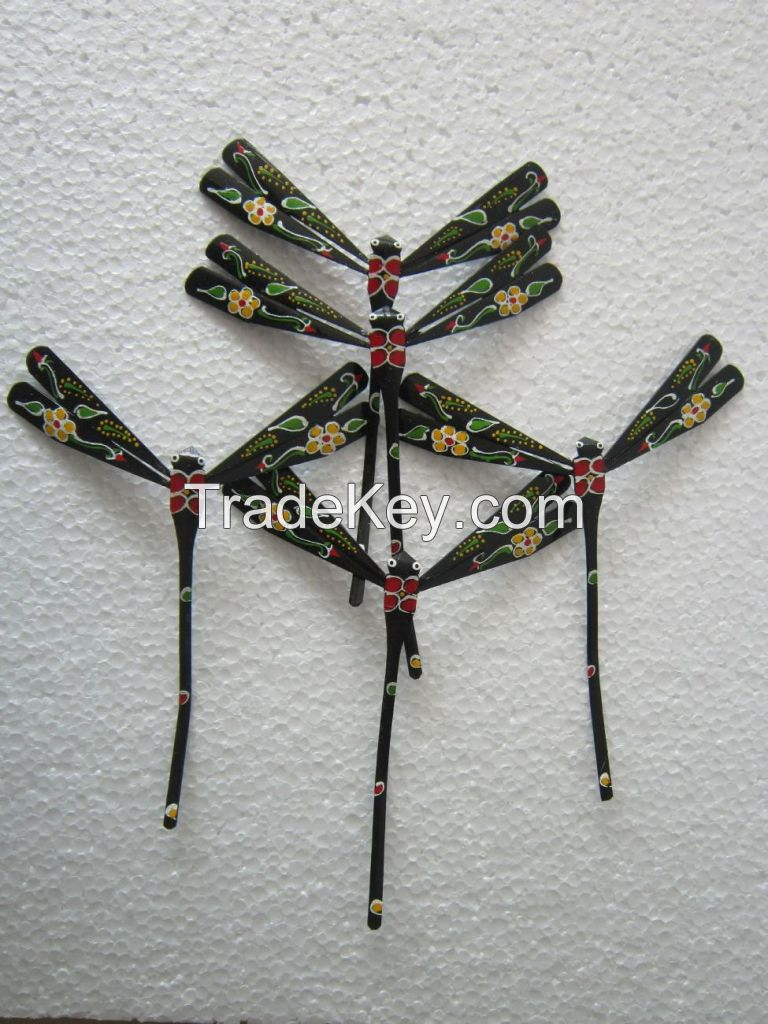 100% Lovely Hand-painted Designer best prices Bamboo Dragonfly