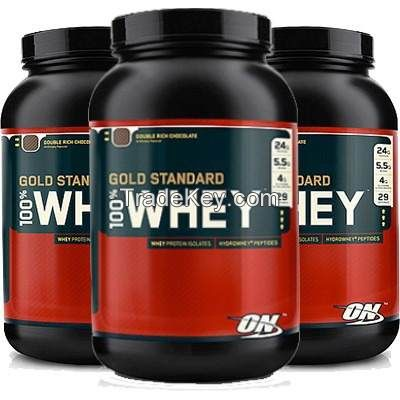Optimum Nutrition Gold Standard 100% Whey Protein, French Vanilla Creme - 5 lbs jar