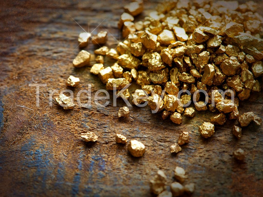 Gold Nuggets, Gold Dust, Gold Bars, Rough Diamonds