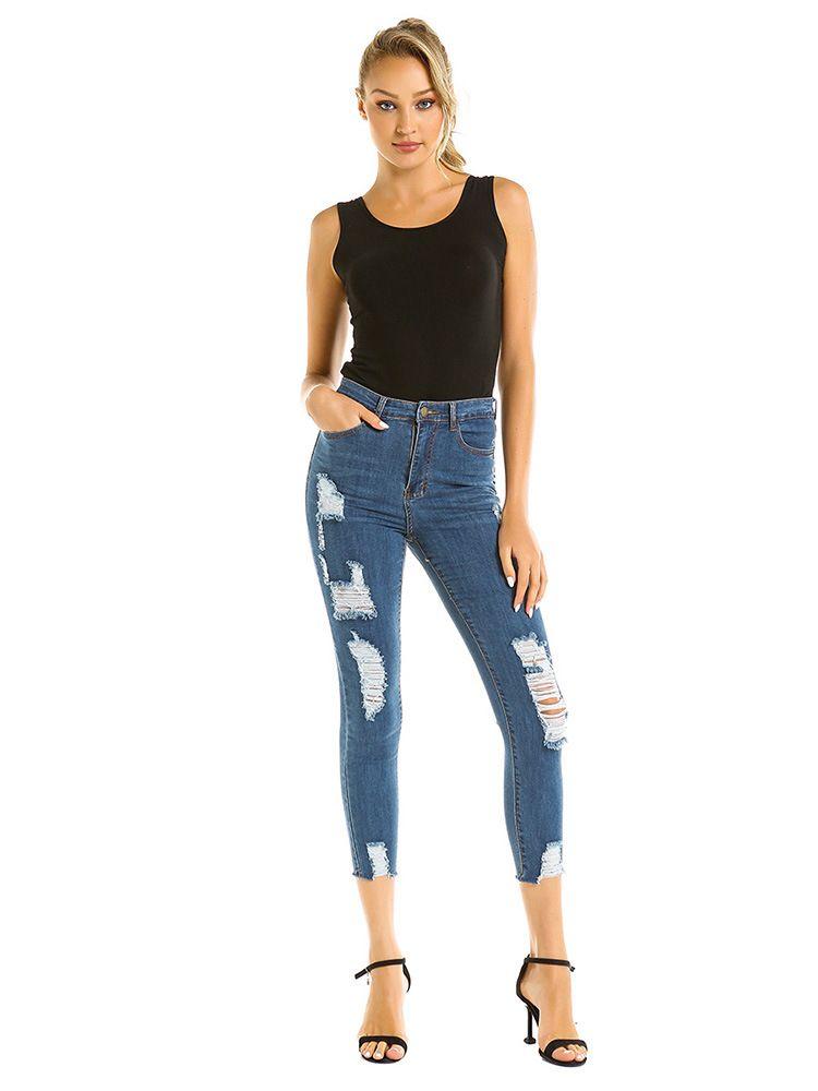 Women Jeans Fashion Jeans Girl Denim Pants Denim Trousers