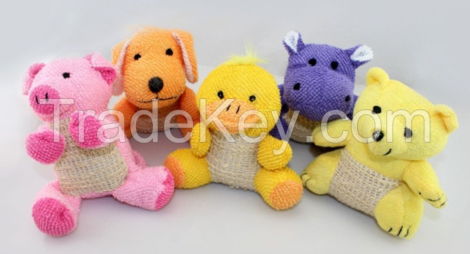 Sell Colorful animal loofah for baby