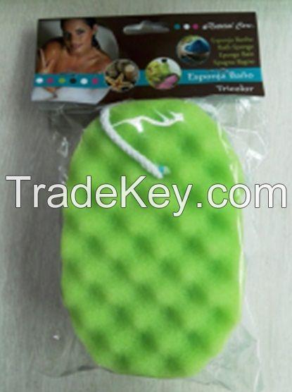 Sell 3 Layers Bath Sponge, New Shape Sponge