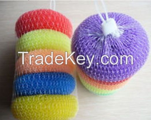 Sell Plastic Cleaning Scourer, Mesh Scourer, Kitchen Cleaning Ball
