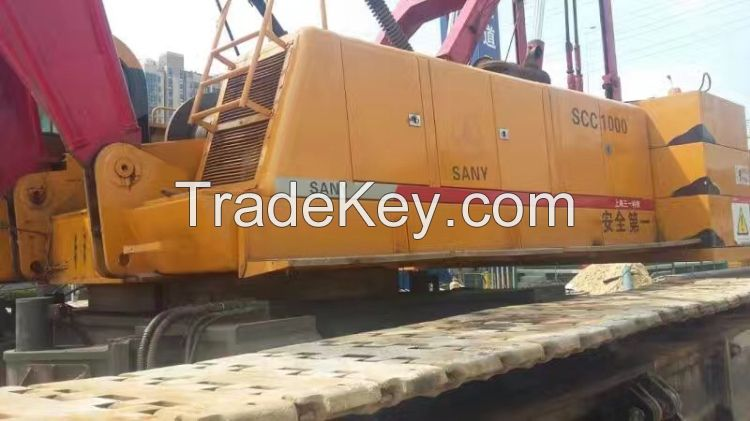 Sell CHEAP PRICE Used SANY Crawler Crane SCC1000