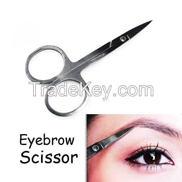 Eyebrow Scissors Cut Manicure Nose Stainless Steel Makeup Scissors Eyebrow With Sharp Head HB88